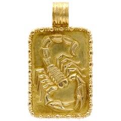 Fred Scorpio 18 Karat Gold Zodiac Pendent Necklace