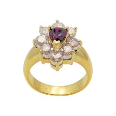 Ruby and Diamond Ring Set in 18 Karat Yellow and White Gold
