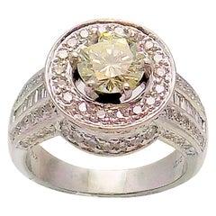 Diamond Halo Engagement or Wedding Ring