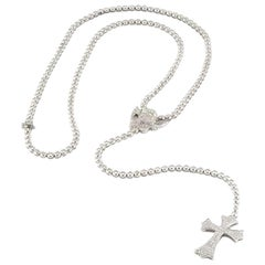 Edouard Nahum Diamond Angel and Cross Necklace 14.66 Carat