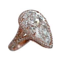 11 Carat Approximate Pear Shape Diamond Engagement Ring, Ben Dannie Design