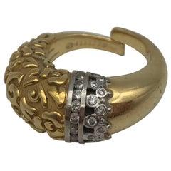 Carrera Y Carrera Yellow and White Gold Diamond Ring
