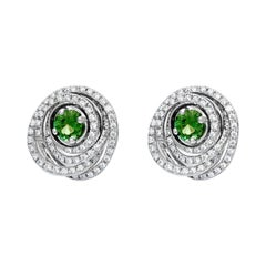 Cassandra Goad Agemaki Mint Tourmaline and Diamond Studs