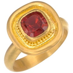 Garnet Ring in 22 Karat Gold