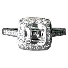 Tiffany & Co. Platinum Diamond 1.01 Carat Lecacy Engagement Ring F VVS2
