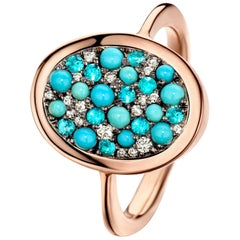 Joke Quick Turquoise, Paraïba tourmalines & Diamond ring