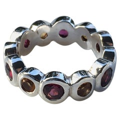 Eternity Band with Garnet and Citrine, This item is on sale for Black Friday