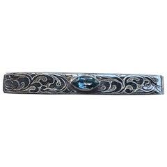 Blue Topaz Tie Pin