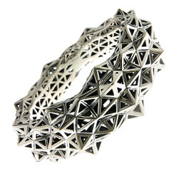 Stellated Sterling Silver Bracelet