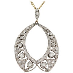 Victorian 3.38 Carat Diamond and Yellow Gold Pendant