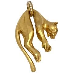 18 Karat Gold and Diamond 'Panthère' Pendant from Cartier