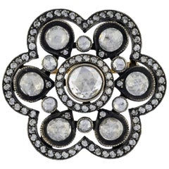 1.47 Carat Rose Cut Diamond Heritage Brooch