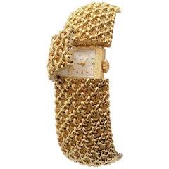14 Karat Yellow Gold Hamilton Ladies Hidden Face Wristwatch