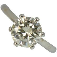 VS 1.40 Carat Round Brilliant Cut Diamond 18 Carat White Gold Engagement Ring