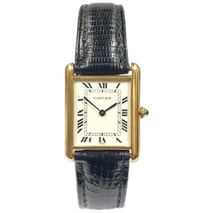 Cartier Classic Yellow Gold Quartz Tank Wristwatch