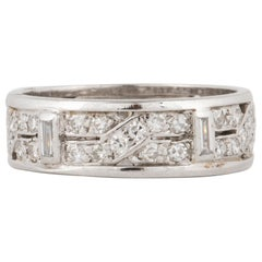 18 Karat Art Deco Diamond Eternity Band