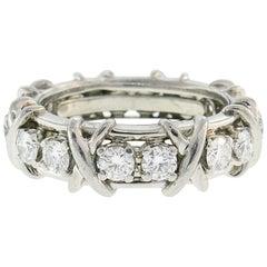 Tiffany & Co. Schlumberger Diamond Platinum Band Ring