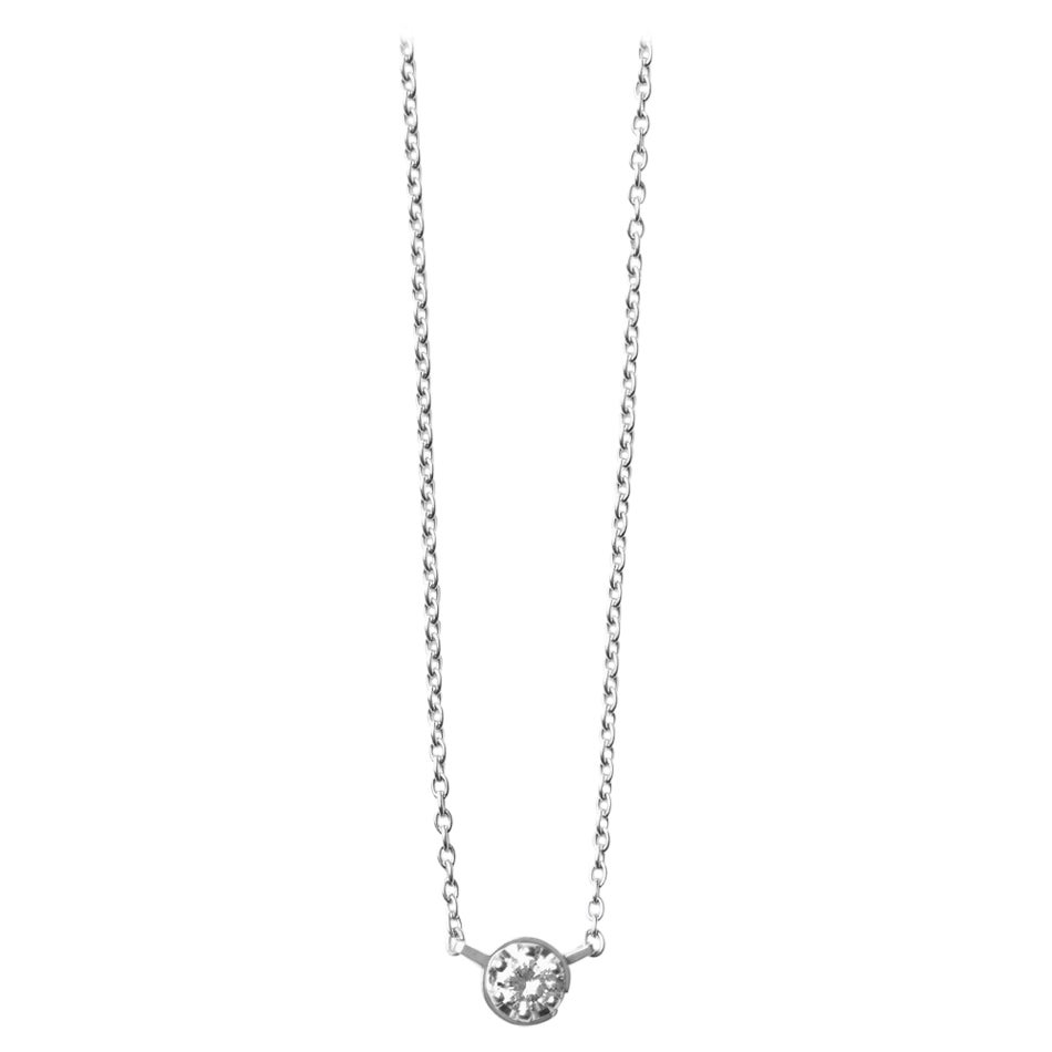 Platinum 900 0.2 Carat Diamond Necklace