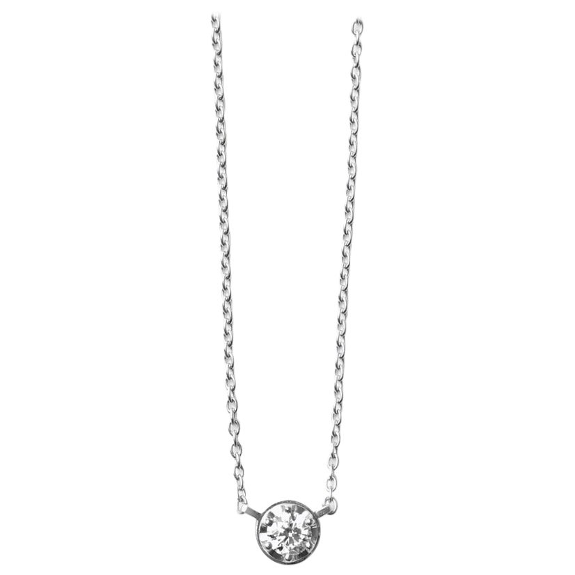 Platinum 900 0.3 Carat Diamond Necklace