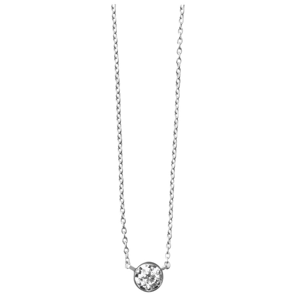 Platinum 900 0.4 Carat Diamond Necklace