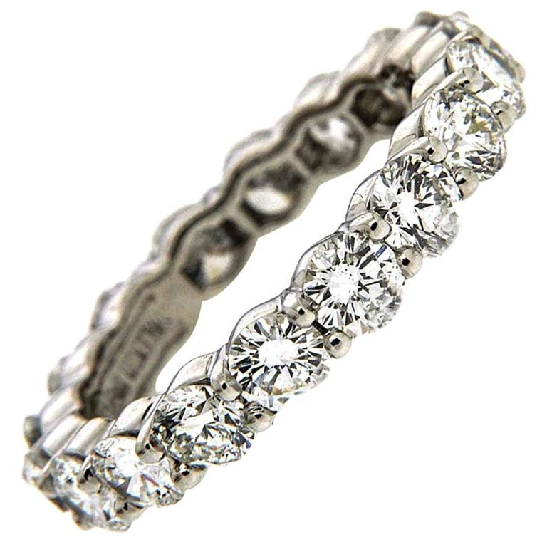 Valentin Magro Diamond Platinum Eternity Band Ring