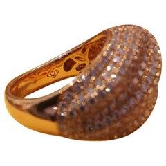 18 Karat Rose Gold Diamond Ring, 4 Carat