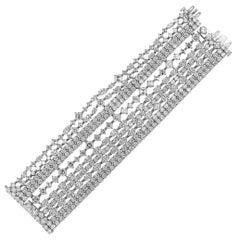 Harry Winston Platinum Secret Ten-Row Diamond Bracelet