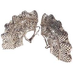 Paolo Piovan White Diamonds Golden Earrings