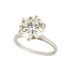 GIA Certified Diamond Engagement Ring 4.02 Carat