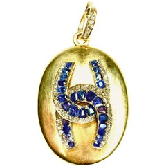 GEMOLITHOS Antique Sapphire and Diamond Locket, 1850s
