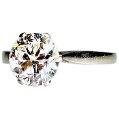 Solitaire Old European Cut Diamond, Est. 1.9 Carat