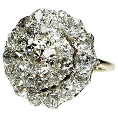Cluster Diamond Ring, Oldcut Diamonds