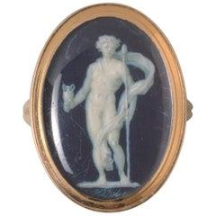 J.J. De Gault Bacchus Gouache Trompe L'oeil Ring