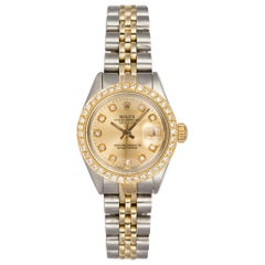 Rolex Two-Tone Oyster Perpetual Date 6917 Stainless Steel and 18 Karat Gold