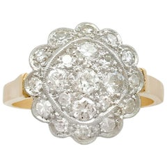 Antique Diamond and Yellow Gold Cluster Ring, 1930s