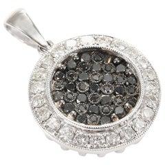 Black Diamond Pendant 18 Carat White Gold