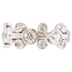 1.0 Carat Diamond Ring 18 Karat White Gold