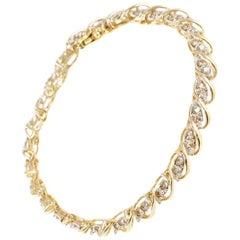 1.50 Carat Diamond Bracelet in 14 Karat Yellow Gold