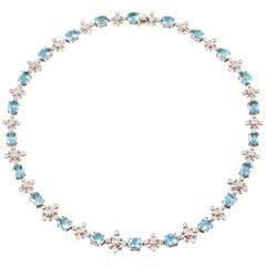 Tiffany & Co. 23.81 Carat Aquamarine 2.65 Carat Diamond Necklace