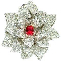 GEMOLITHOS Spinel and Diamond Ring-Pendant, Modern