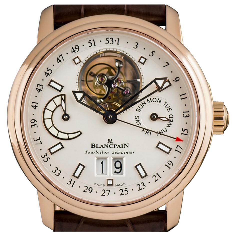 Blancpain Leman Tourbillon Semainier Grande Date 2925--3642-53b Automatic Watch