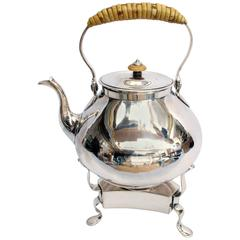 Silver Kettle and Stand by Thomas Heming, London, 1763