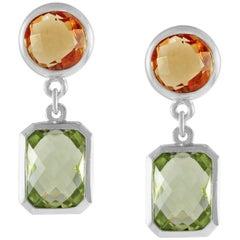 Code by Edge Aquafiore Earrings Coloured Rose Cut Gemstones Morse Code Letter A
