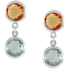 Code by Edge Aquafiore Earrings Coloured Rose Cut Gemstones Morse Code Letter I