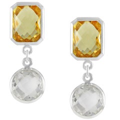 Code by Edge Aquafiore Earrings Coloured Rose Cut Gemstones Morse Code Letter N