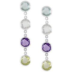 Code by Edge Aquafiore Earrings Coloured Rose Cut Gemstones Morse Code Letter H