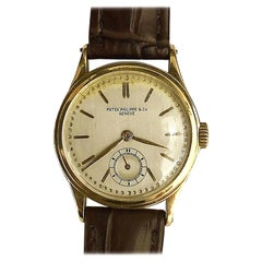 Retro Patek Philippe & Co Hand-Winding 18 Karat Gold Vintage Watch Model 505413