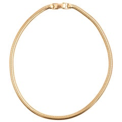 Tiffany & Co. Yellow Gold Snake Chain Necklace