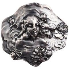 Art Nouveau Sterling Silver Pin, circa 1910