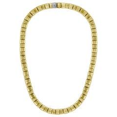 Roberto Coin Appassionata Necklace in 18 Karat Gold 70 Grams and Diamonds